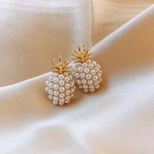 Restock! Pineapple Gold Pearl Stud Earrings